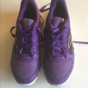 Rebok 3 D fuse frame sneakers.